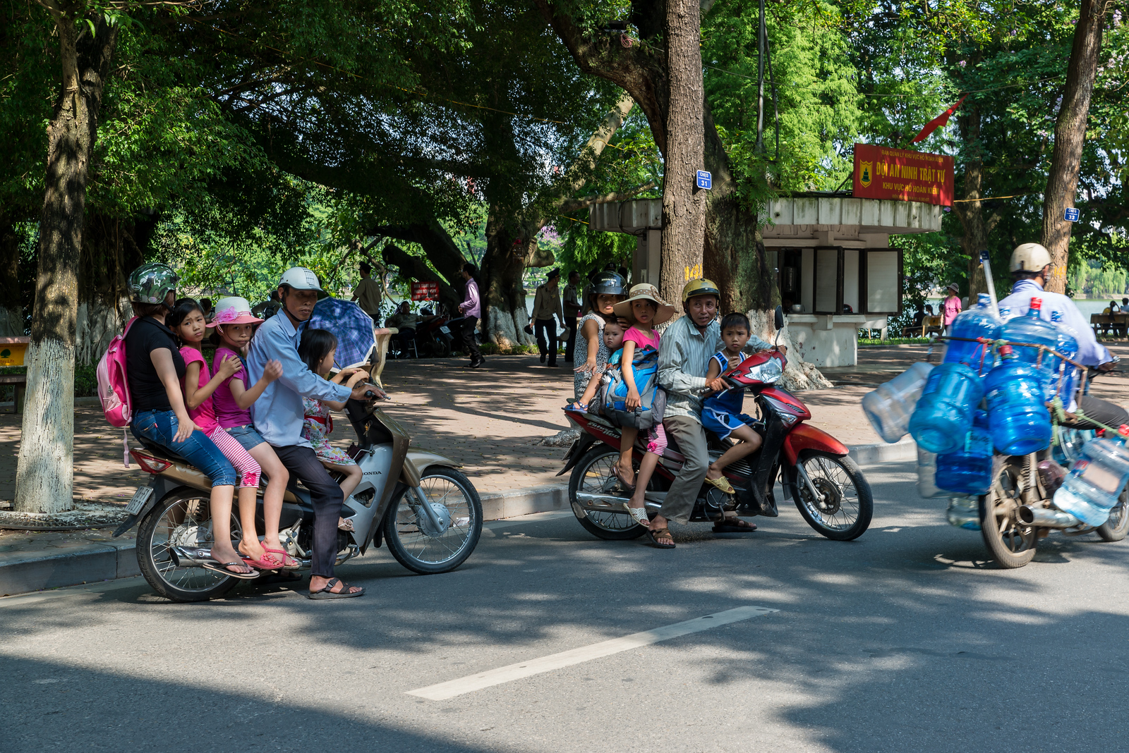 family on motorbike in vietnam